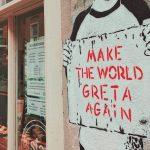 Grafit sa Gretinim imenom koji dokazuje da će Greta Tunberg promeniti svet
